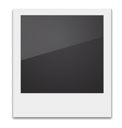 Retro photo frame polaroid on white background vector