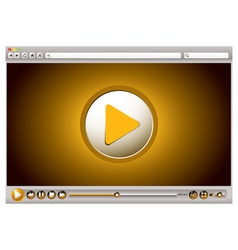 Internet browsers video controls vector