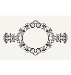 High ornate old romb frame vector
