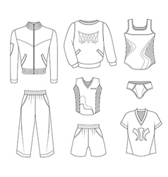 Man set tricot clothes vector