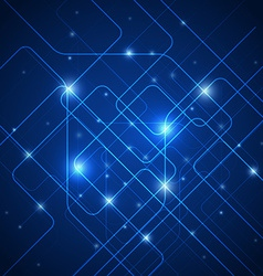 Abstract lines technology blue background vector