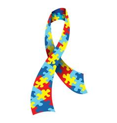 Autism awareness ribbon vector