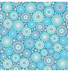 Seamless pattern made of circles and dots vector