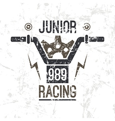 Emblem motorcycle racing junior vector
