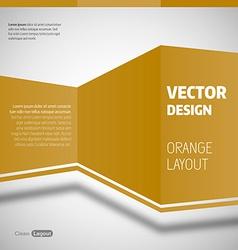 Orange layout vector
