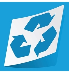 Recycle sticker vector