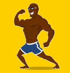 Athlete posing vector