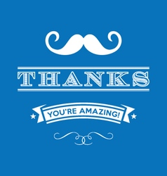 Stylized thanks you are amazing lettering vector