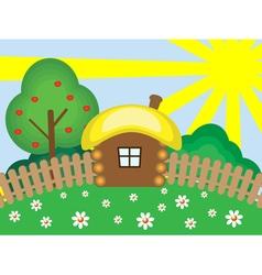 Wooden house vector