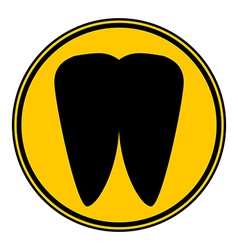 Tooth button vector