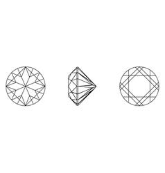 Gemstone wire frame vector