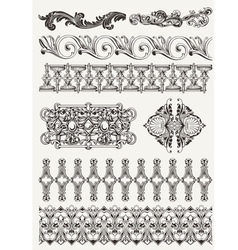 Antique design elements and page decoration vector