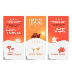Travel banner poster sticker flyer ticket vector