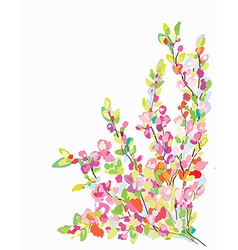 Flower border card for greeting card vector