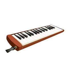 A musical melodica isolated on white background vector
