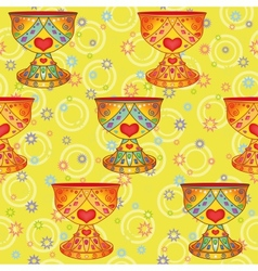 Seamless background holy grail vector