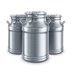 Can containers for milk vector