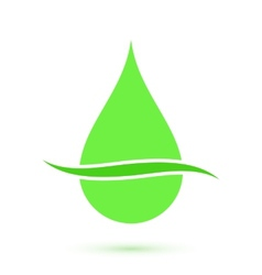 Green drop symbol conceptual icon vector