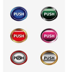 Set of push button vector