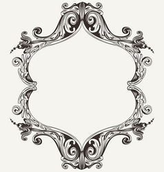Antique vintage royal frame vector