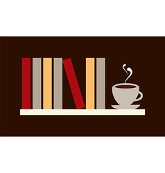 Books and coffee vector