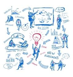 Doodle management vector