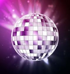 Disco ball disco background vector