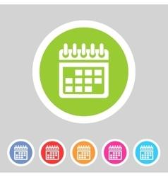 Calendar flat icon web sign symbol logo label vector