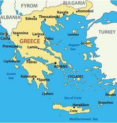 Map of greece vector