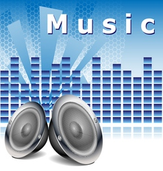 Music background with speakers vector