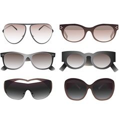 Collection of sunglasses vector