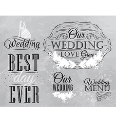 Wedding set coal vector