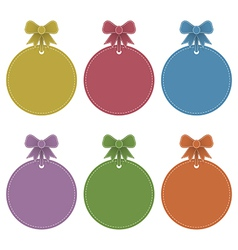 Labels with ribbons vector