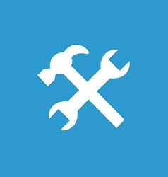 Repair icon white on the blue background vector