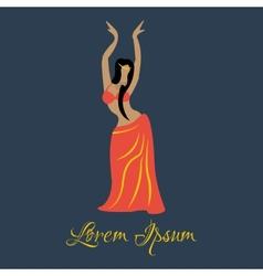 Oriental dancer vector