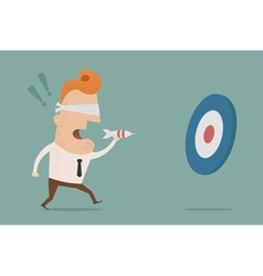 Businessmantargeting vector