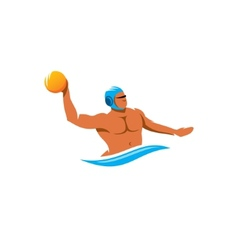 Water polo player sign vector