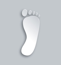 Foot silhouette vector