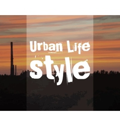 Urban lifestyle poster banner city landscape on vector