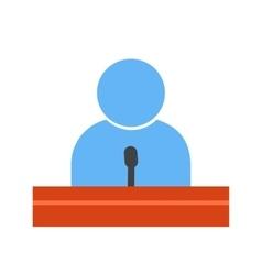 Guest speaker vector