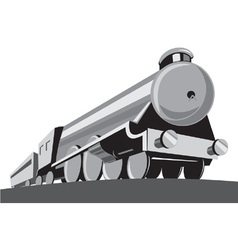 Steam train locomotive retro vector