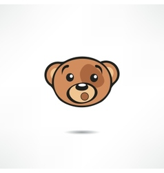 Surprised bear vector
