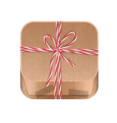 Paper package icon vector
