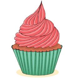 Hand drawn cupcake vector