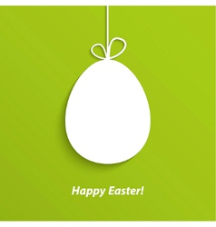 Easter card with hanging egg vector