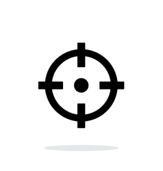 Crosshair icon on white background vector