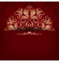 Elegant filigree ornament on seamless vector