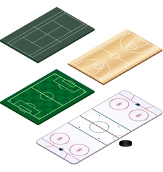 Sports grounds set vector