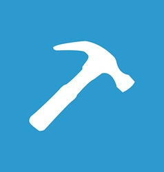 Hammer icon white on the blue background vector