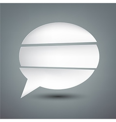 Paper white separated speech bubble vector